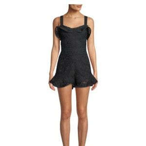 Alexis Star Embroidered Flounce Romper -M